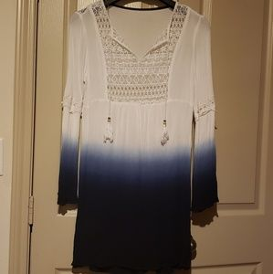 Tops - 💥 Hot Sale White & Blue Tunic